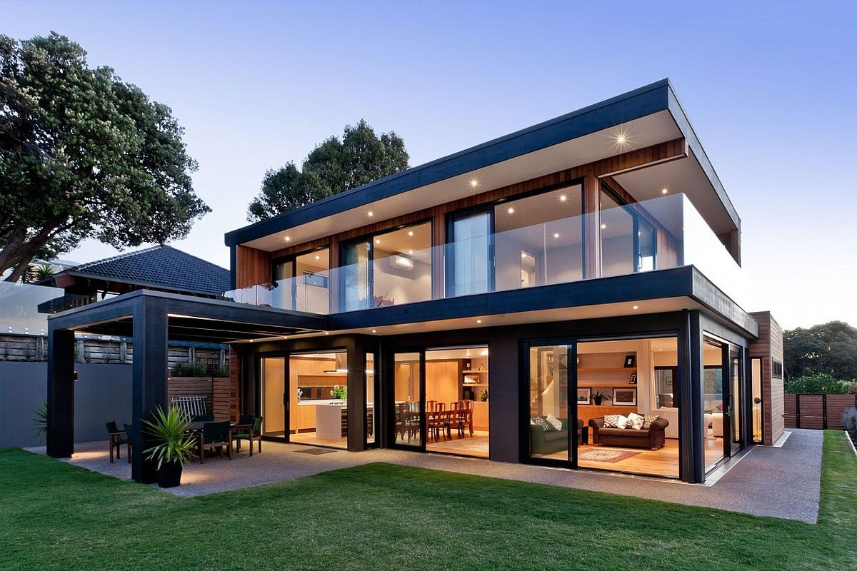 Cliff top residence in auckland with amazing sea views - Idees terrasses exterieures ...