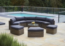 Modern rattan garden furniture set
