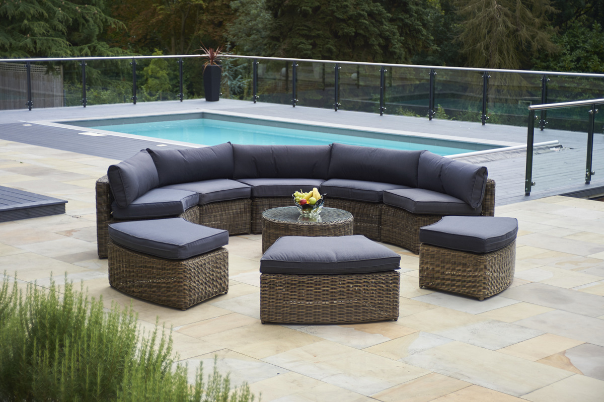 Modern rattan garden furniture set