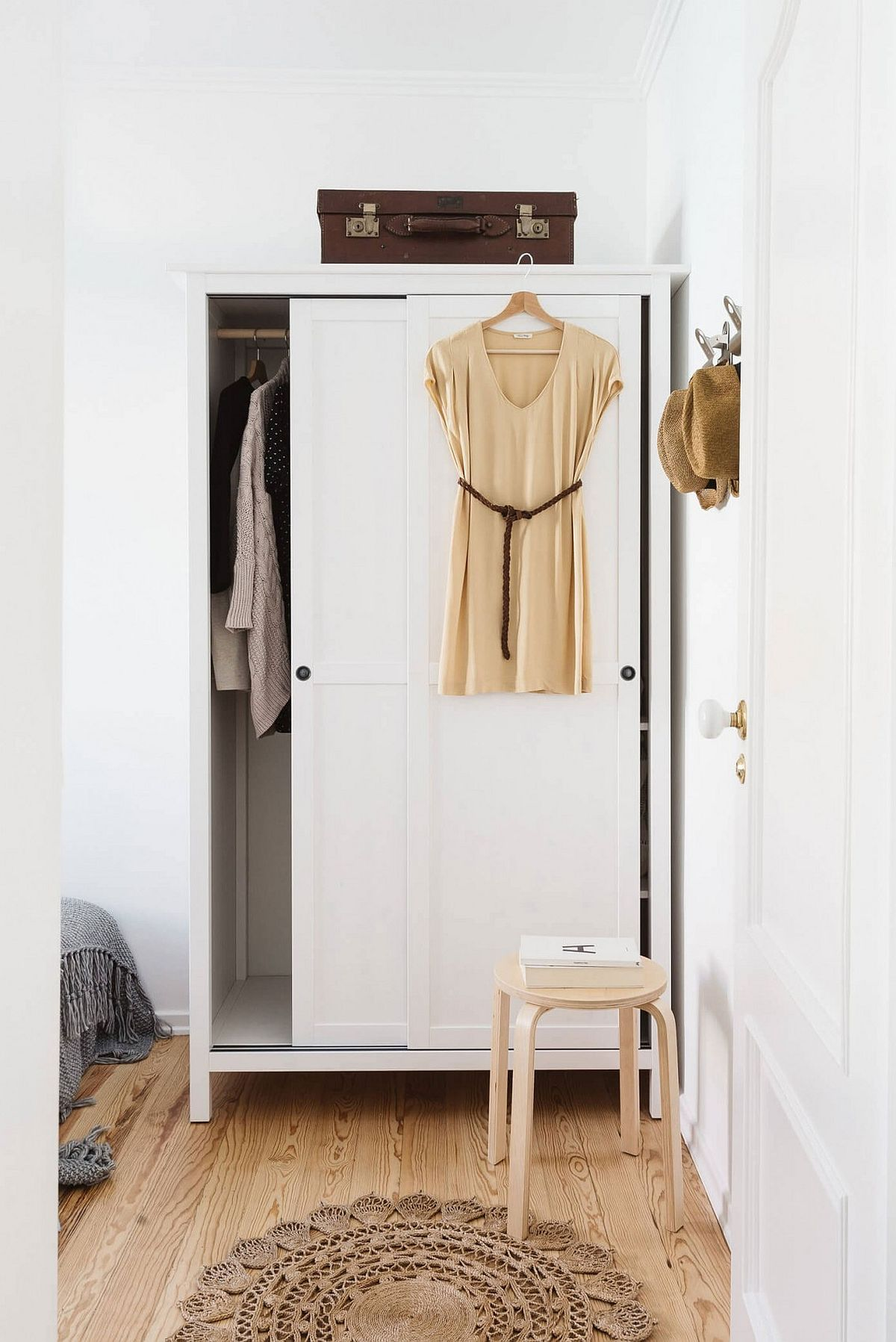 Modern wardrobe is elegant and space-savvy