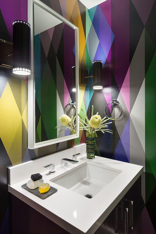 Multi-colored and brilliant Circus Wallpaper [Design: Ann Lowengart Interiors / David Duncan Livingston Photography]