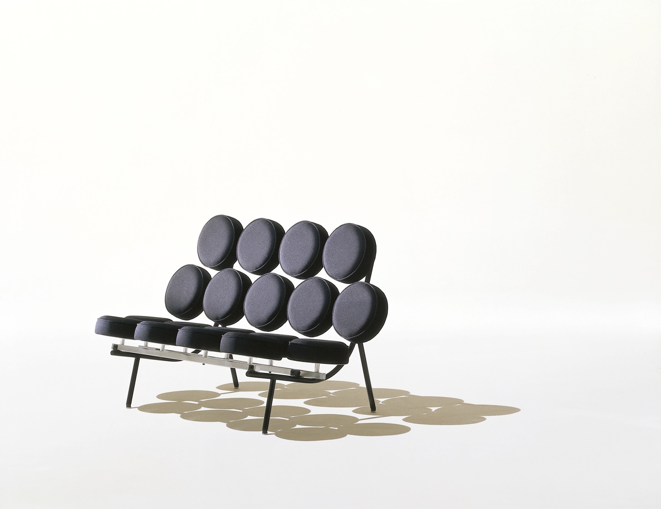 TheNelson Marshmallow sofa, designed in 1956 byGeorge Nelson andand Irving Harper.Image© 2016 Herman Miller, Inc.