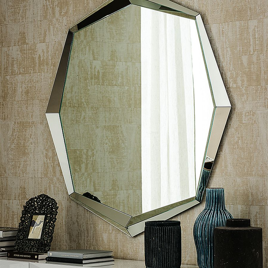 Octagonal mirror frames moves away from mundane designs
