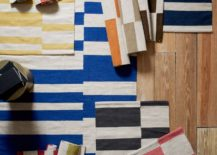 Offset stripe dhurrie rugs from West Elm