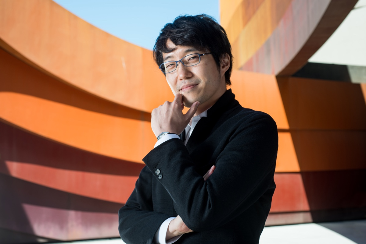 Oki Sato at the Design Museum Holon. Photo by by Shay Ben Efraim via Fine Art Magazine Blog.