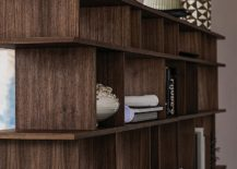 Open bookshelves can also be decorated with vases and accessories to a create lovely focal point