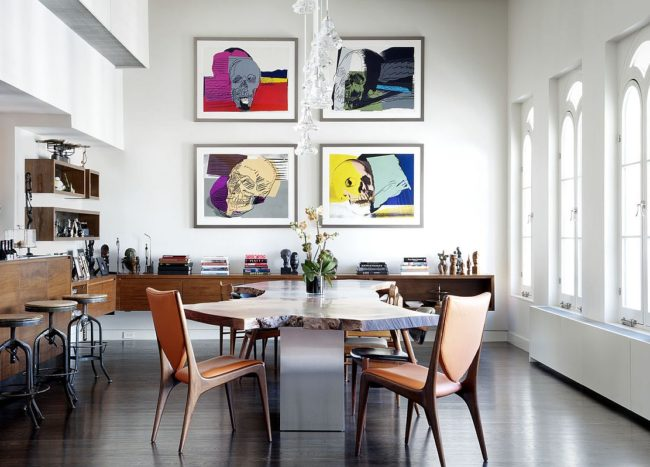 An Infusion of Color and Comfort: Lavish Tribeca Penthouse in New York