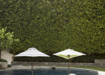 Outdoor lounge area with umbrellas