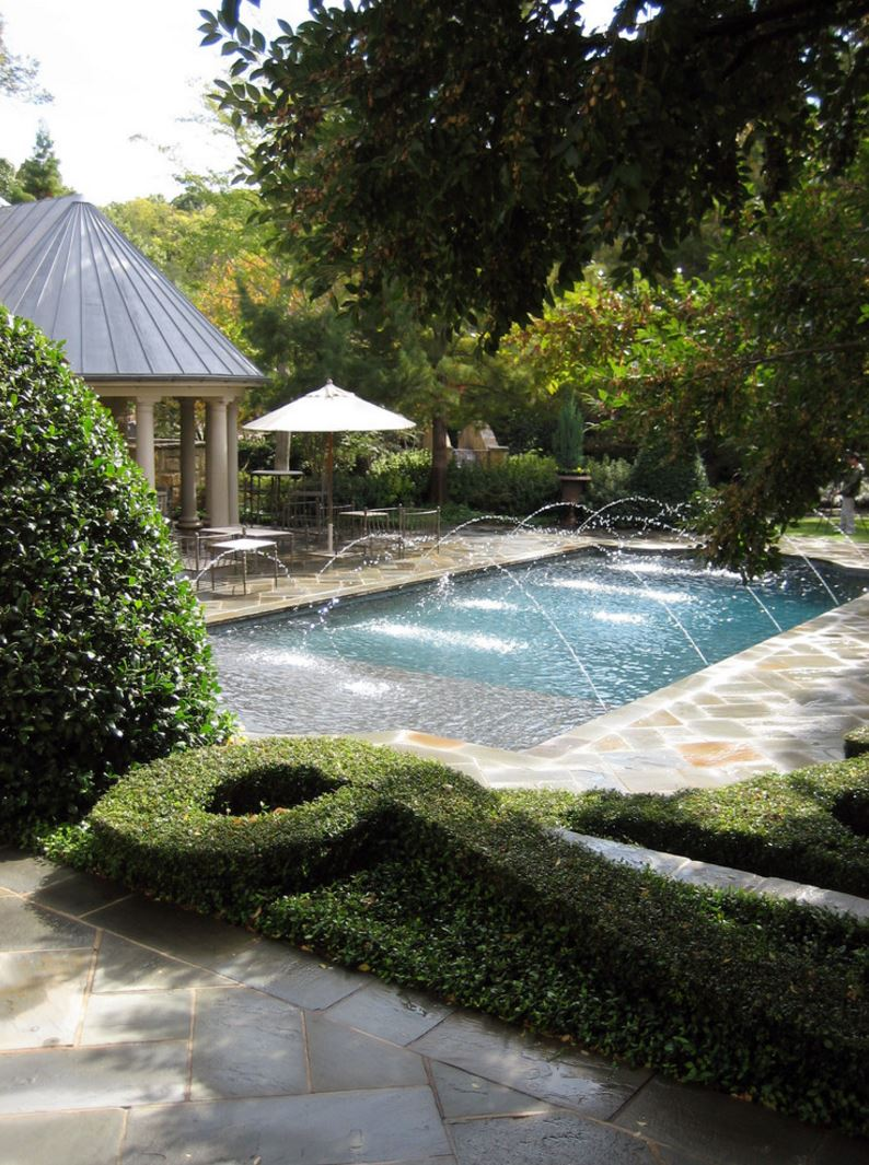 Transform your yard into a garden oasis for Outdoor pool backyard