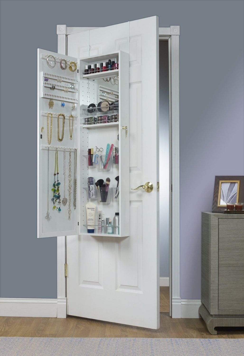 Over-the-door mirror and jewelry armoire from Mirrotek