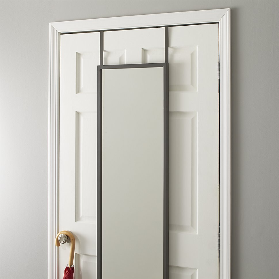 bring home functional style with an over the door mirror. Black Bedroom Furniture Sets. Home Design Ideas
