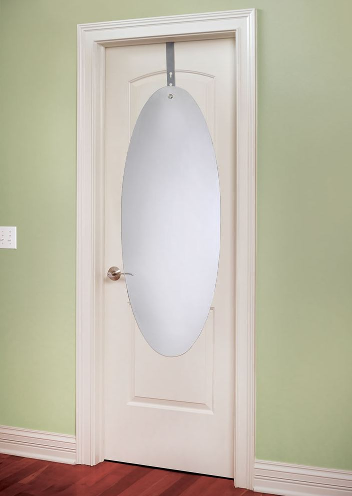 Over-the-door mirror from Hammacher Schlemmer