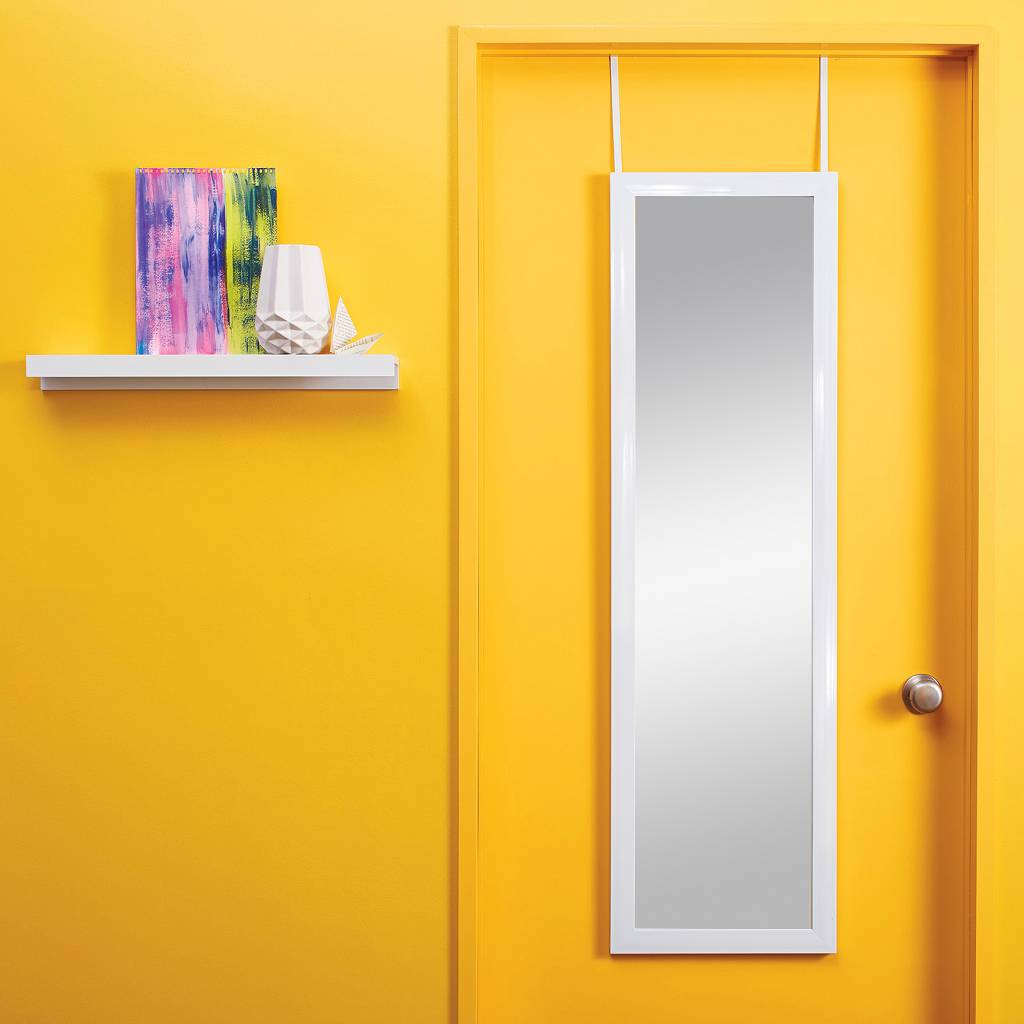 Over-the-door mirror in white from Target