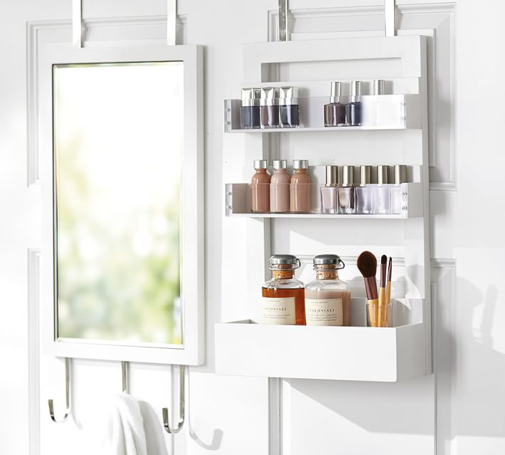 Over-the-door vanity station from Pottery Barn