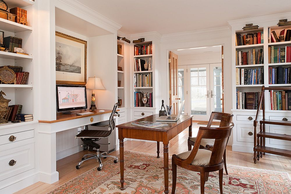 Interiors View In Gallery Picture Lighting Illuminates The Open Corner Shelves In The Home Office Beautifully Design Scot