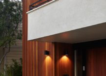 Plastered finish for the balconies gives the facade a fresh, contemporary look