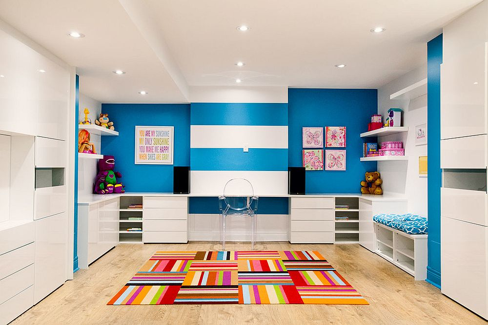 Posh contemporary kids' room does not shun away from bright blocks of color [Design: Phase 2 Design]