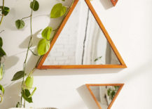 Pyramid mirrors from Urban Outfitters