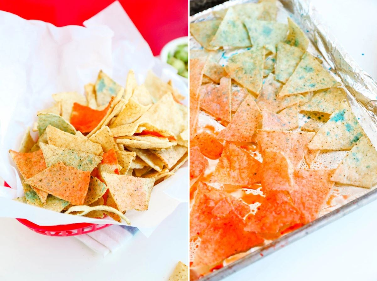 Red, white and blue chips from Proper