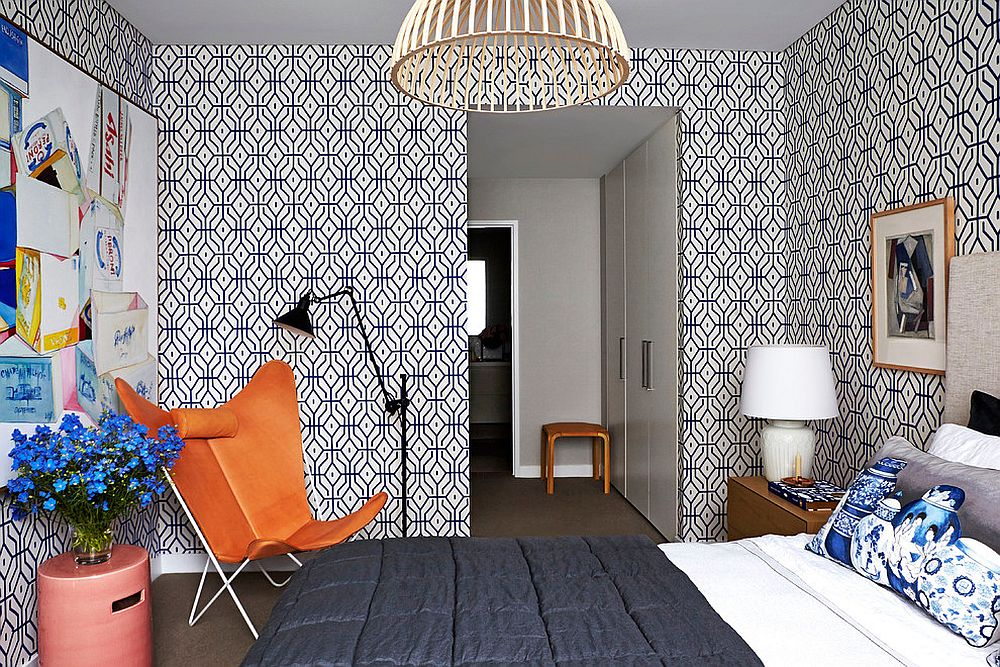 25 Awesome Rooms That Inspire You To Try Out Geometric Wallpaper Part 87