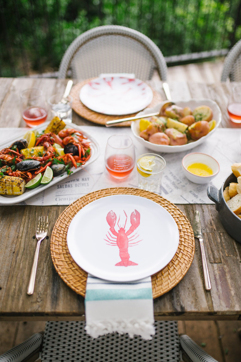 Seafood party from Camille Styles