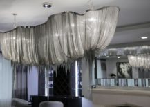 Silken and striking chandelier for the glamorous dining room