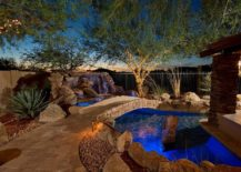 Simple stone bridges are a popular choice for the Mediterranean poolscape