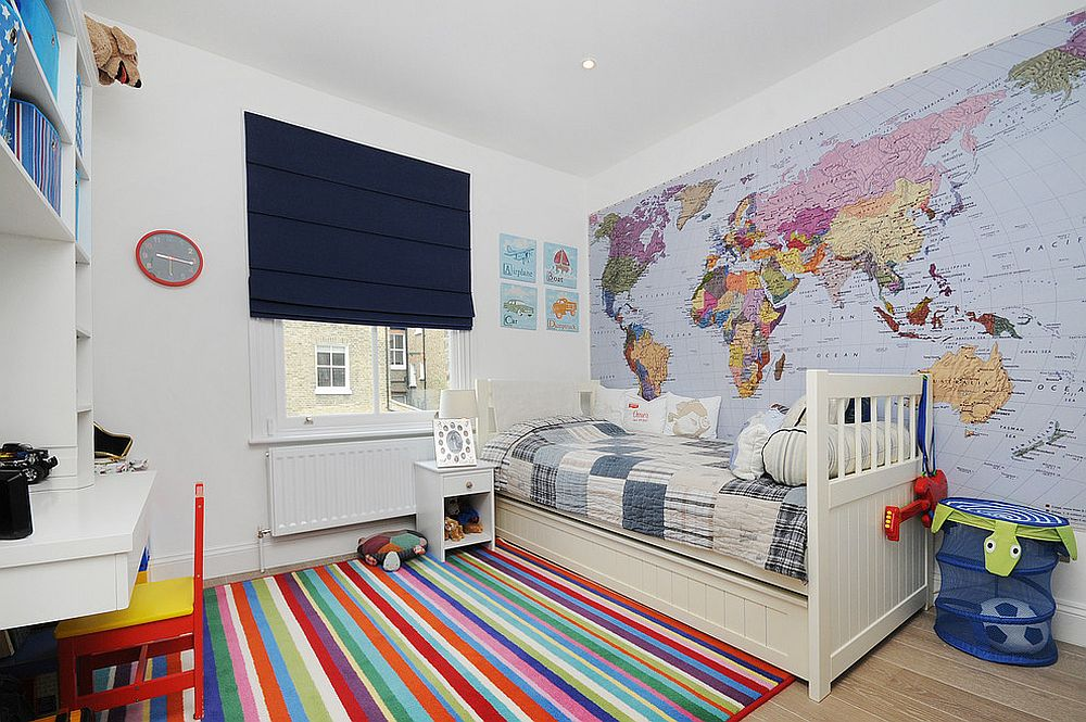 Simplicity of the rug design makes it prefect for a modern kids' room