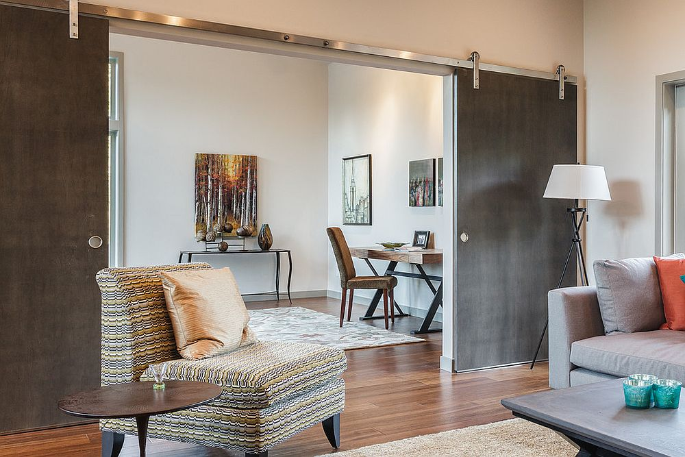 Sliding doors save up precious square footage [Design: RD Construction]