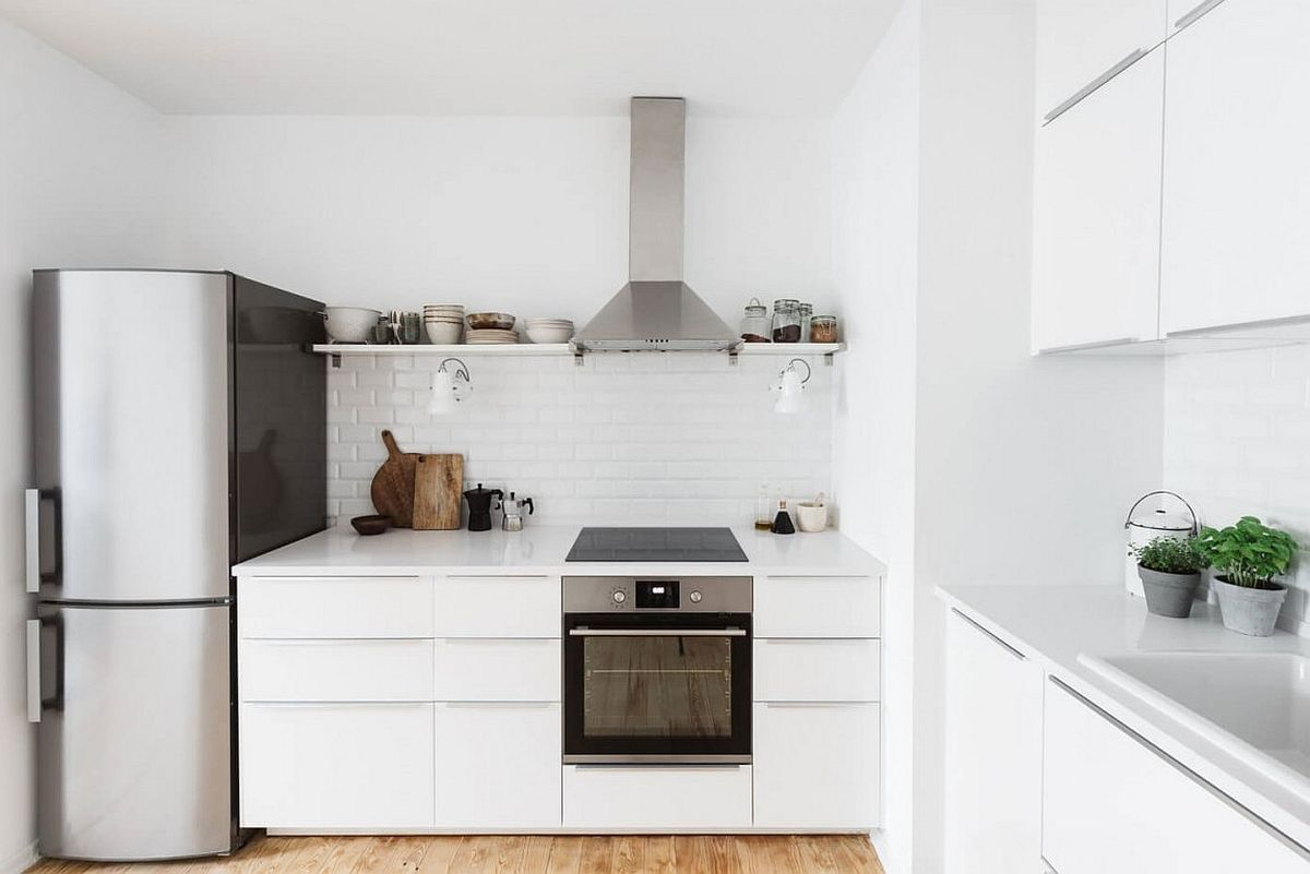 Modern Scandinavian White Kitchen