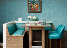Small, custom dining area infused with retro charm