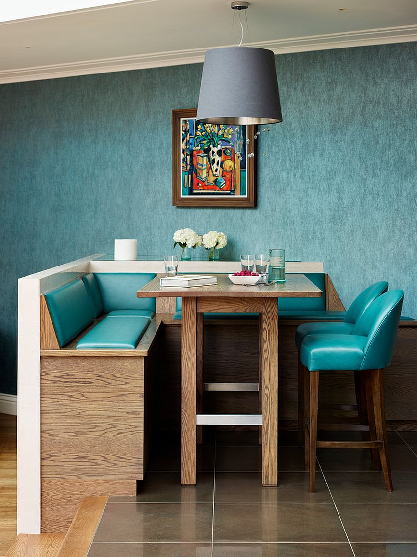 Small, custom dining area infused with retro charm [From: Woodstock Furniture]