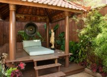 Small deck in the secluded garden takes your meditation practice outdoors!