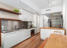 Smart and modern kitchen inside the small Vancouver apartment