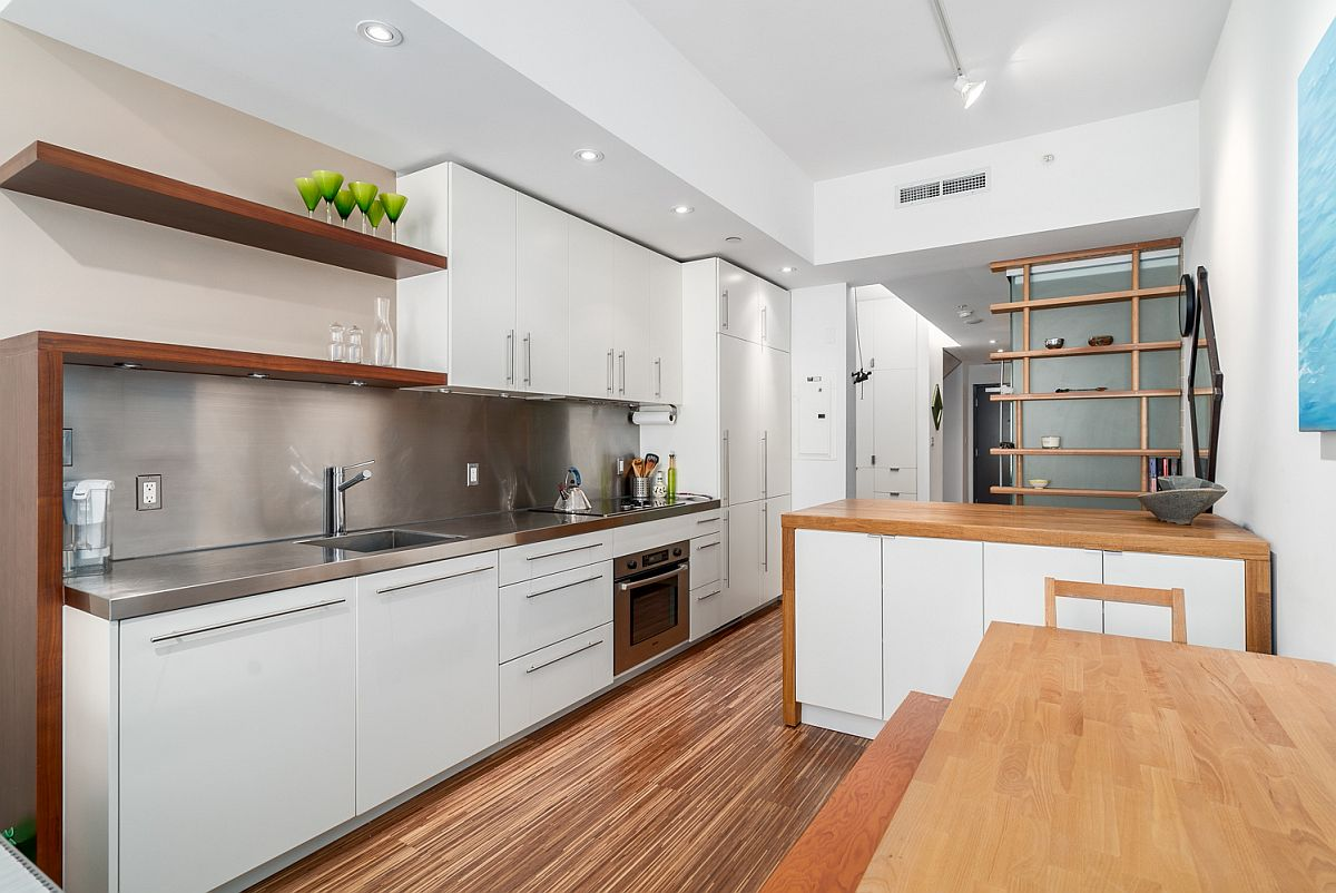 Small Modern Apartment Kitchen Small Modern Apartment In Vancouver Maximizes Space And Style