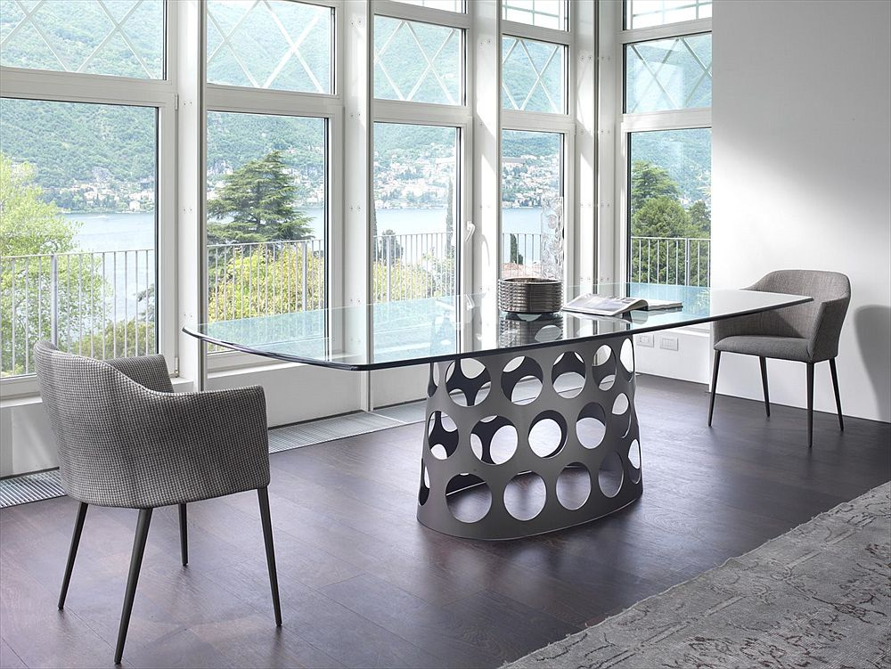 Smart dining table can also double as a stylish work table