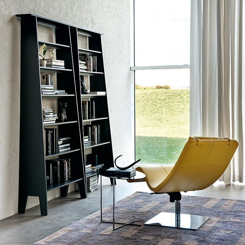 Space-savvy bookshelves fit into even the tiniest corner