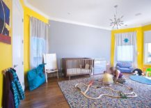 Spacious playroom and nursery rolled into one