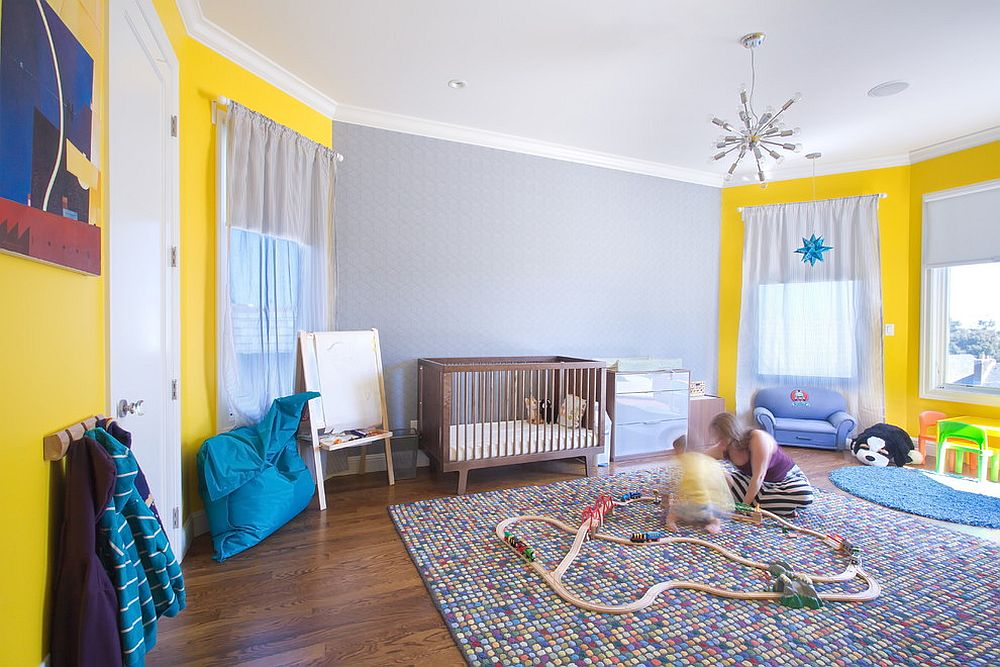 Spacious playroom and nursery rolled into one [Design: Studio G+S Architects]