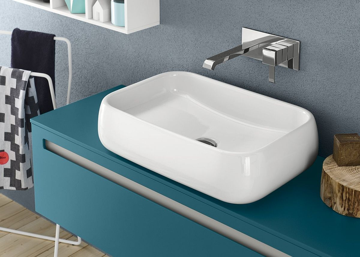 view gallery bathroom modular system progetto. View In Gallery Splash Of Turquoise For The Contemporary Bathroom Modular System Progetto G