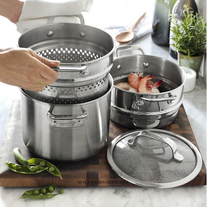 Stainless steel multipot from Williams-Sonoma