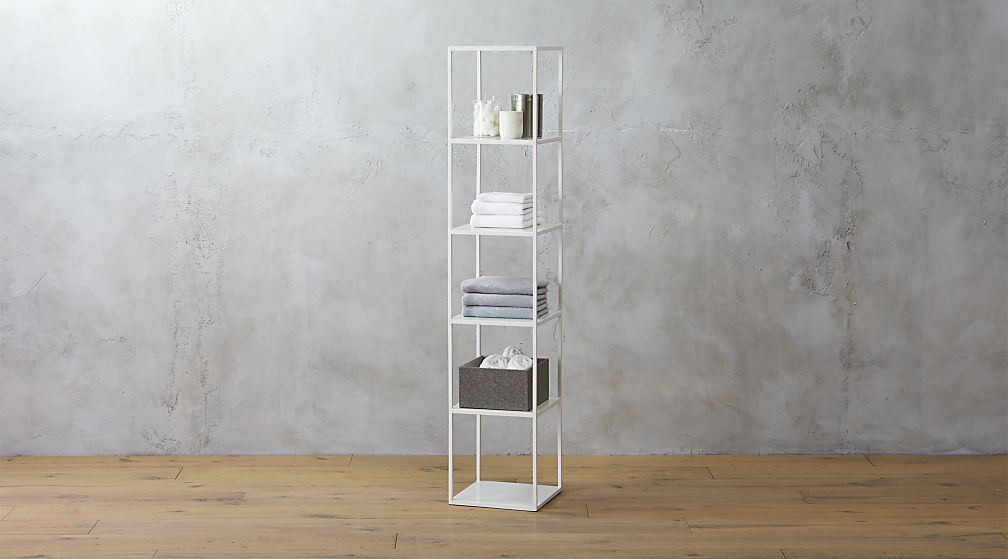 Standing shelving from CB2