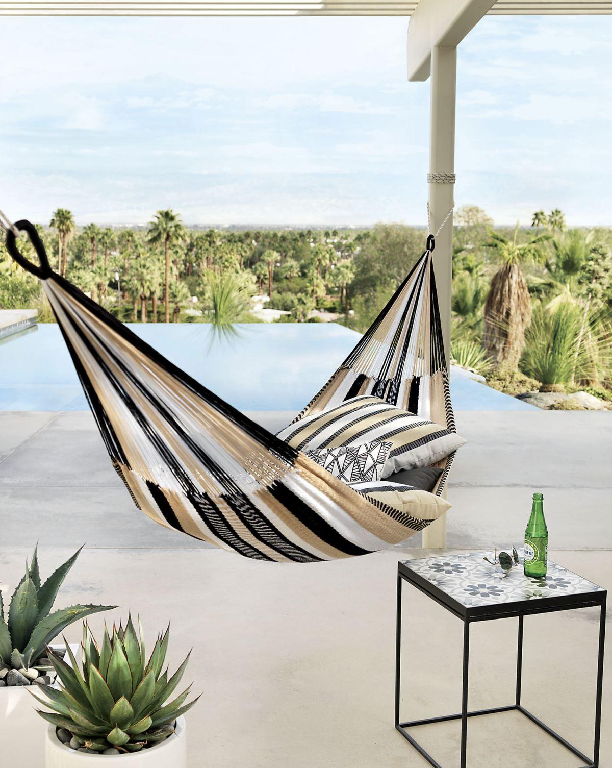 Striped hammock from CB2