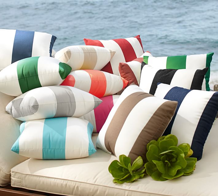 Striped pillows from Pottery Barn