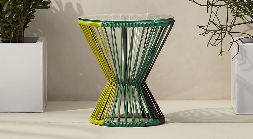 Striped side table from CB2