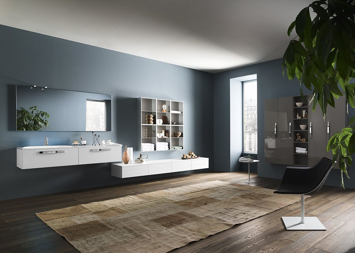 Stunning contemporary and modular bathroom compositions from Inda