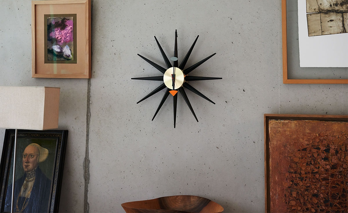 The Sunburst Clock was designed in 1949 by George Nelson, a founder of American Modernism. Image © Hive.