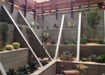 Sunken garden with succulents 217x155 Transform Your Yard into a Garden Oasis