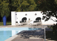 Sussex Sun Loungers with black upholstery