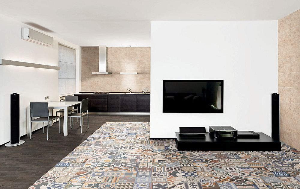 Taking your love for patchwork tiles into the living room! [Design: Metro Tiles Geebung]